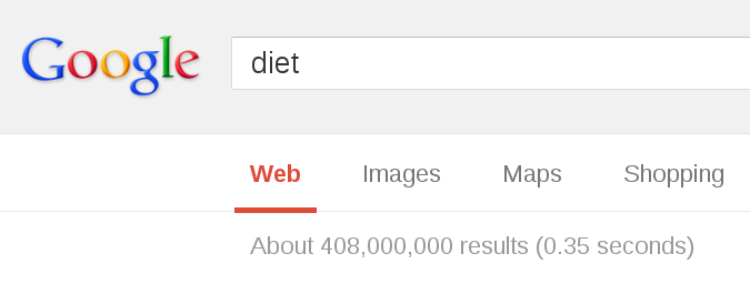 408 million results for 'diet'